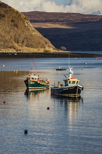 Fishing boats anchored in Portree Harbour, Isle of Scotland von Bruce Parker