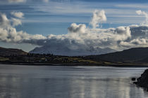 View of Cuillin Hills from Portree Harbour Pier at Loch Portree, Isle of Skye by Bruce Parker