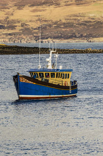 Fishing boat called Aspire, anchored in Portree Harbour, Isle of Scotland by Bruce Parker