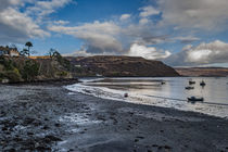 Scorrybreac, the Black Rock and Raasay from Portree Harbour by Bruce Parker