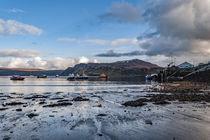 Ben Tianavaig and Sound of Raasay across Loch Portree, on the Isle of Skye by Bruce Parker