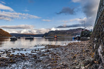 Ben Tianavaig and Sound of Raasay across Loch Portree, on the Isle of Skye von Bruce Parker