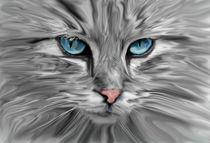 Cat Eyes Watercolor art von Sapan Patel