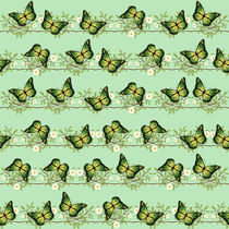 Green butterflies pattern by Gaspar Avila