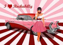 I love Rockabilly in Pink by Monika Juengling