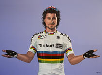 Peter Sagan painting von Paul Meijering