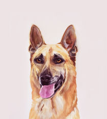German Shepherd Dog Painting Art von Sapan Patel