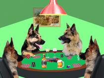 German Shepherd dogs Playing Poker von Sapan Patel