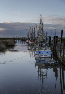 Kleiner Hafen in der Nähe von Cuxhaven von Petra Arians