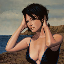 Monica Bellucci Painting 2 by Paul Meijering