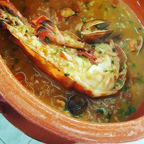 Portuguese seafood rice  by Hugo Moreira