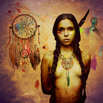 Young naked Squaw by Martin Drost