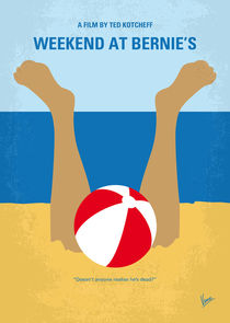 No765 My Weekend at Bernies minimal movie poster by chungkong