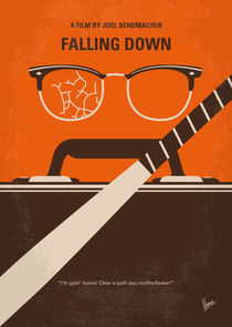 No768 My Falling Down minimal movie poster von chungkong