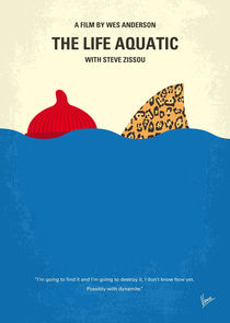 No774 My The Life Aquatic with Steve Zissou minimal movie poster by chungkong