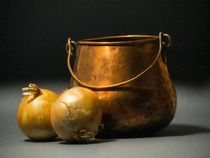 Copper Pot And Onions von Frank Wilson