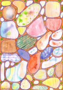 Friendly Colorful Pebbles Pattern by Heidi  Capitaine
