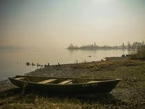 Fischerboot auf der Insel Reichenau von Christine Horn