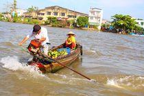 Schwimmende Markt Vietnam by ann-foto