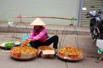 Der schwere Job einer Straßenverkäuferin in Vietnam by ann-foto