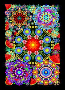 Mandalas and Exotic Fruits Pattern   von bluedarkart-lem