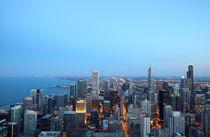 Chicago zur Blauen Stunde von buellom