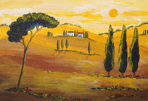 Sonnenschein am Morgen in der Toskana/ Sunshine in the Morning in Tuscany by Christine Huwer