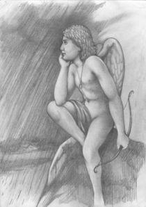 Cupid and rain von Roman Grinko