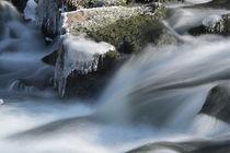 Loisach Staustufe Frost von Rolf Meier
