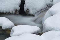Loisacher Staustufe Schnee von Rolf Meier