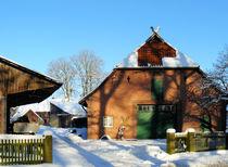 Niedersächsischer Bauernhof in der Lüneburger Heide by gscheffbuch