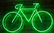 bicycle in neon von la-mola-lighthouse