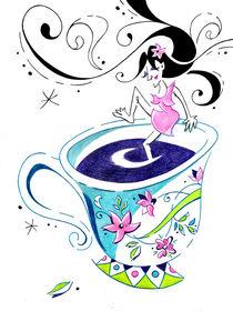 I Love Coffee - Art Book Illustration by nacasona