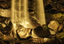 Melincourt waterfalls at Resolven south Wales von Leighton Collins