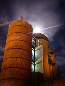 Swansea observatory at night by Leighton Collins