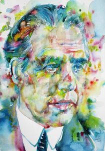 NIELS BOHR - watercolor portrait von lautir