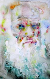 CHARLES DARWIN - watercolor portrait by lautir