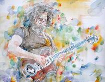JERRY GARCIA - watercolor portrait by lautir