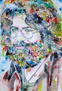 JERRY GARCIA - watercolor portrait von lautir