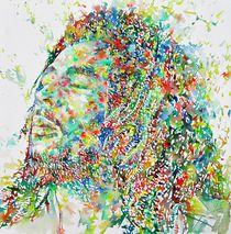 BOB MARLEY - watercolor portrait von lautir
