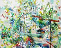 KURT COBAIN - watercolor portrait by lautir