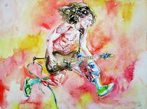 EDDIE VAN HALEN - watercolor portrait by lautir