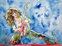 EDDIE VAN HALEN - watercolor portrait von lautir