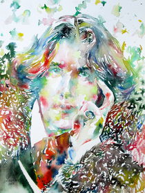 OSCAR WILDE - watercolor portrait von lautir