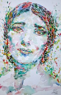 MARIA CALLAS - watercolor portrait von lautir