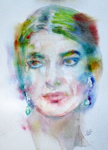 MARIA CALLAS - watercolor portrait von lautir
