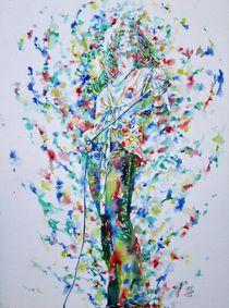 ROBERT PLANT - watercolor portrait by lautir