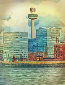 Albert Docks (Digital Art) by John Wain