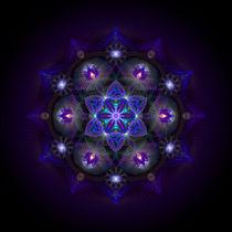 Flower Of Life Mandala von Ralf Schuetz