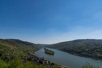 Blauer Himmel über dem Mittelrheintal von Ronald Nickel